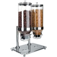 Dispensador de Cereales Doble 10 + 10 L.